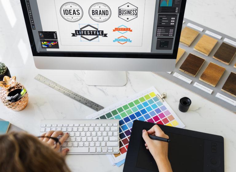 Logos being designed